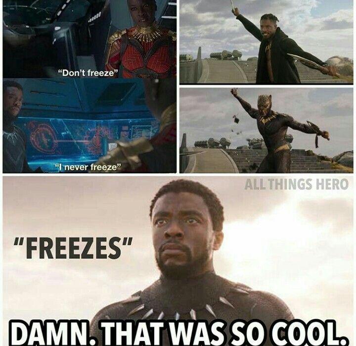 Dont Freeze I Never Black Panther Meme