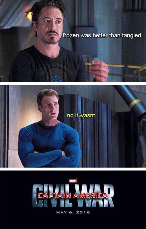 Frozen Was Better Than Captain America Meme
