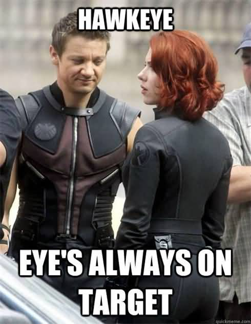 Hawkeye Eye's Always On Captain America Meme