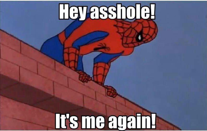 Hey Asshole! It's Me Spider Man Meme