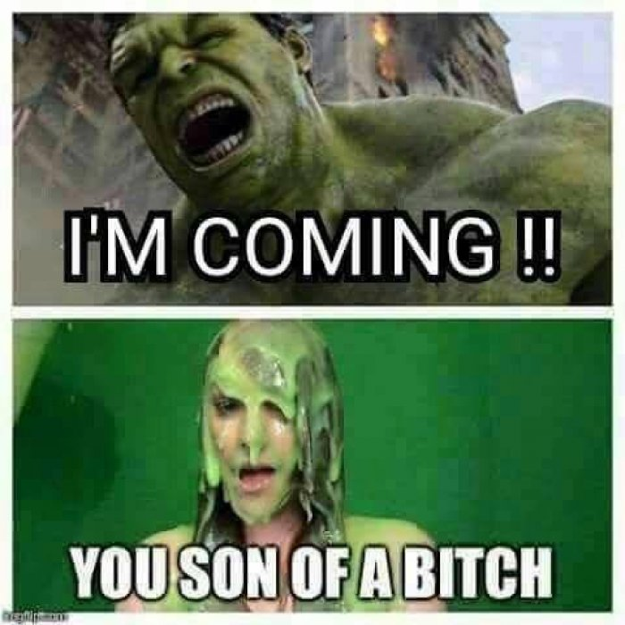 I'm Coming!! You Son Hulk Meme