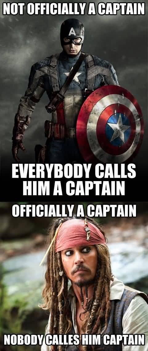 Not Officially A Captain Captain America Meme