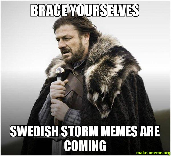 Brace Yourselves Swedish Storm Storm Meme