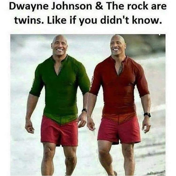 Dwayne Johnson & The The Rock Meme
