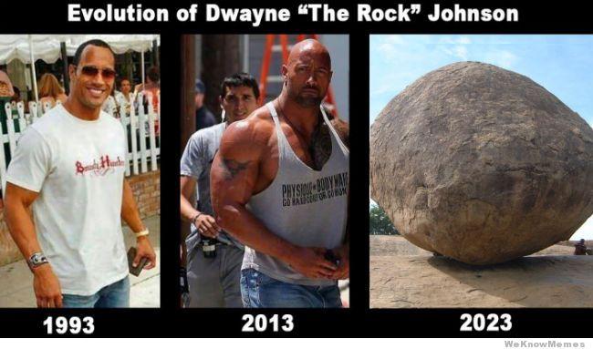 Evolution Of Dwayne The The Rock Meme