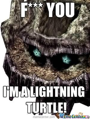 Fuck You I'm A Lightning Colossus Meme