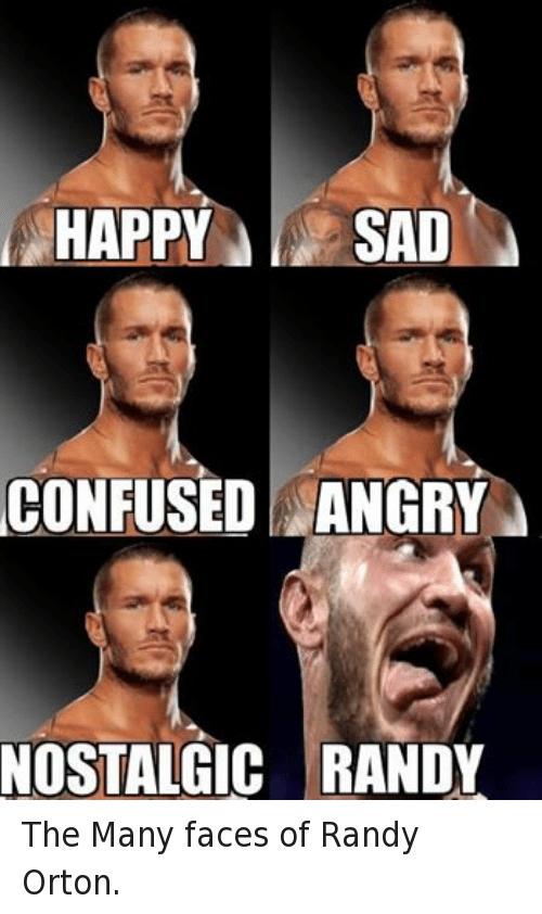 Happy Sad Confused Angry Randy Orton Meme