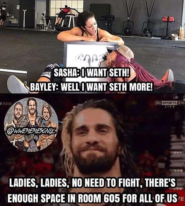 Sasha I Want Seth! Seth Rollins Meme