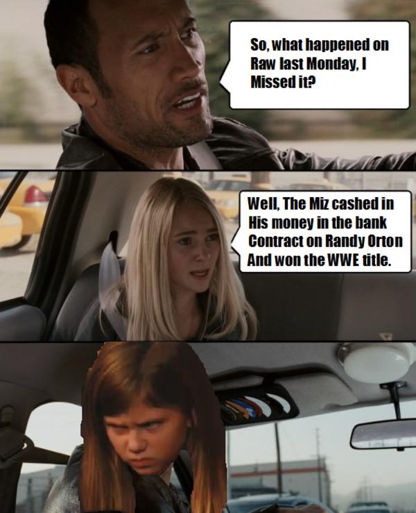 So What Happend On The Miz Meme