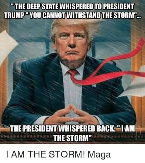 The Deep State Whispered Storm Meme