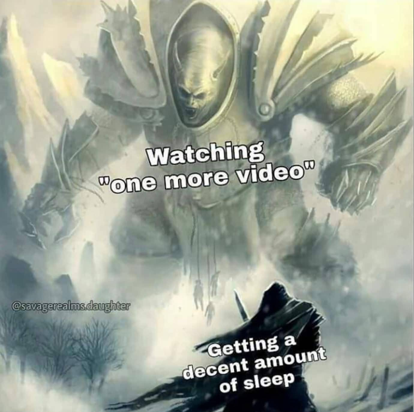 Watching One More Video Colossus Meme