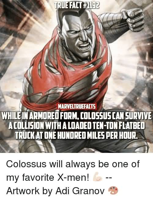 While In Armored Form Colossus Meme