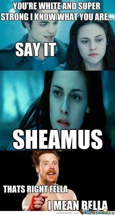 You're White And Super Sheamus Meme