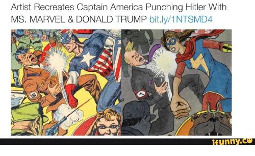 Artist Recreates Captain America Punching Ms. Marvel Meme