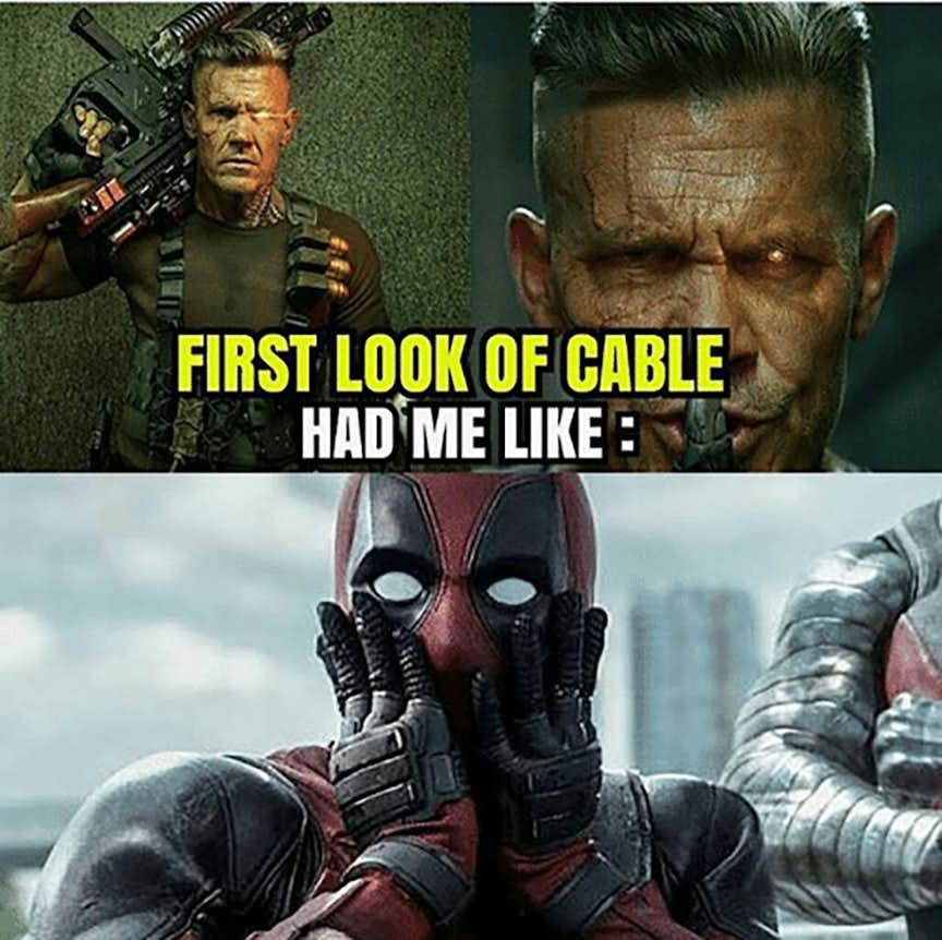First Look Of Cable Cable Meme