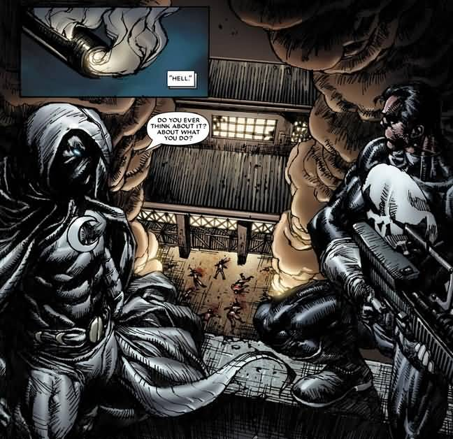 Hell Do You Ever Think Moon Knight Meme