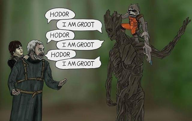 Hodor I Am Groot Groot Meme