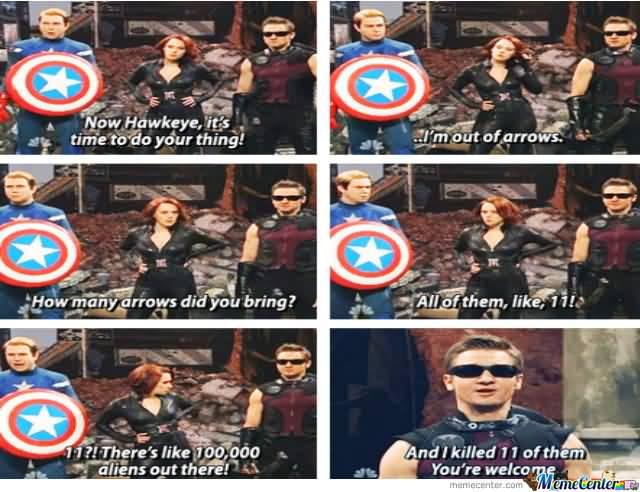 How Hawkeye, It's Time Hawkeye Meme