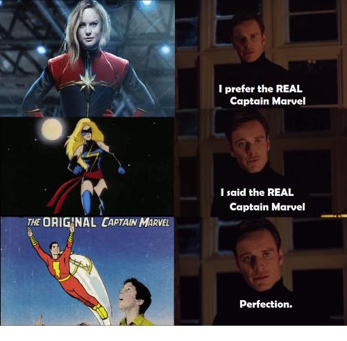 I Prefer The Real Captain Captain Marvel Meme
