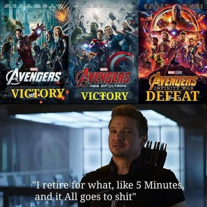 I Retire For What Hawkeye Meme