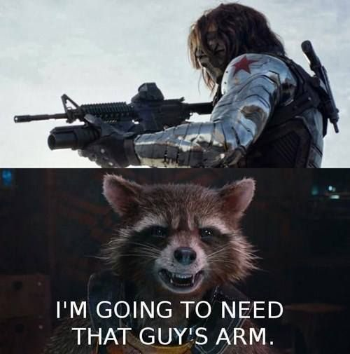 I'm Going To Need That Rocket Raccoon Meme