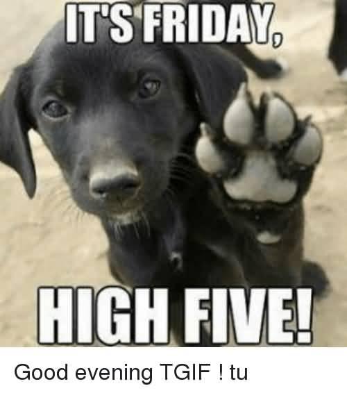 It's Friday, High Five! Good Evening Meme