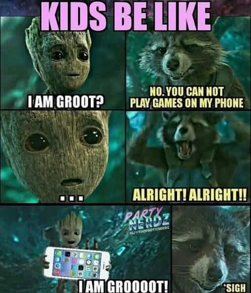 Kids Be Like I Am Groot Groot Meme