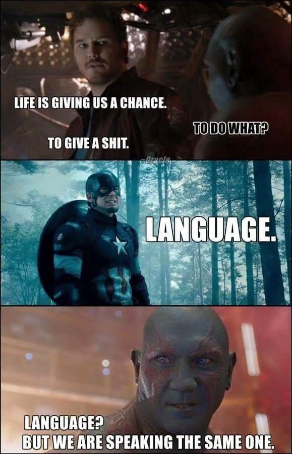 Life Is Giving Us A Chance Drax the Destroyer Meme