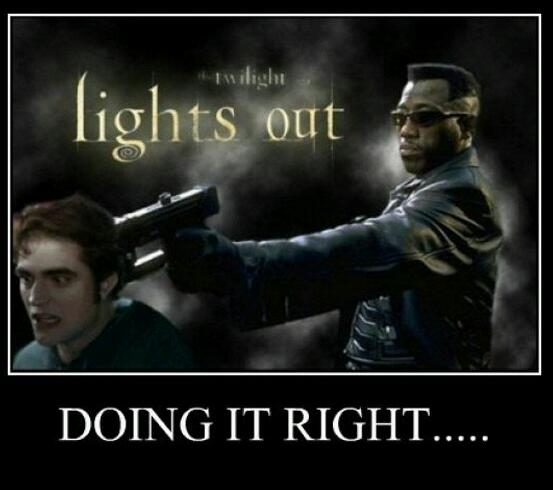 Lights Out Doing It Right Blade Meme