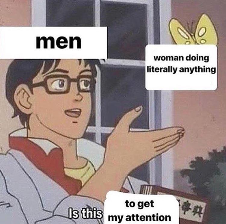 Men Woman Doing Literally Butterfly Meme