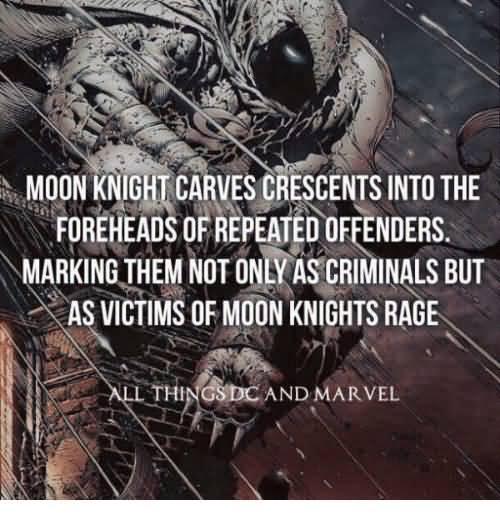 Moon Knight Carves Crescents Moon Knight Meme