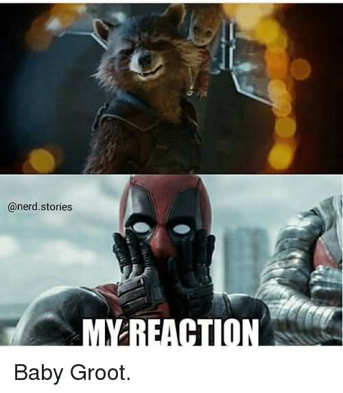 My Reaction Baby Groot Groot Meme
