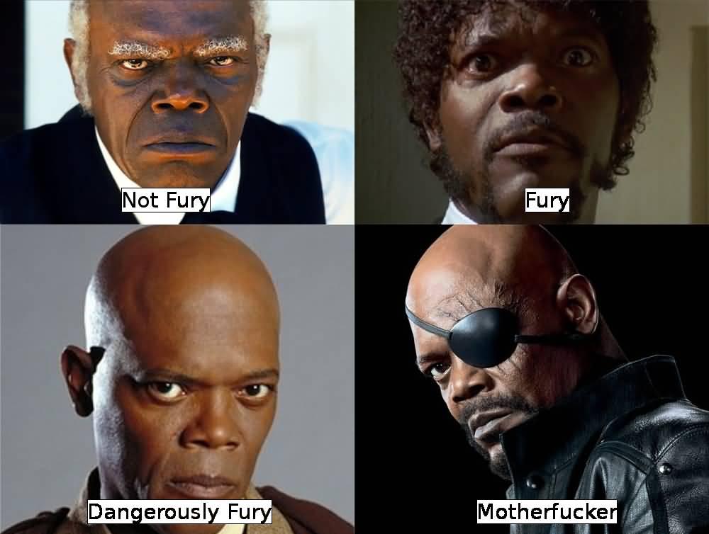 Not Fury Fury Dangerously Nick Fury Meme