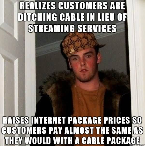 Realizes Customers Are Ditching Cable Meme