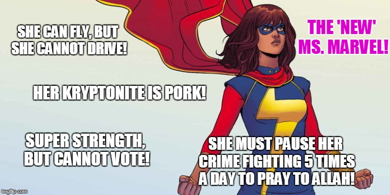 She Can Fly, But She Cannot Drive! Ms. Marvel Meme