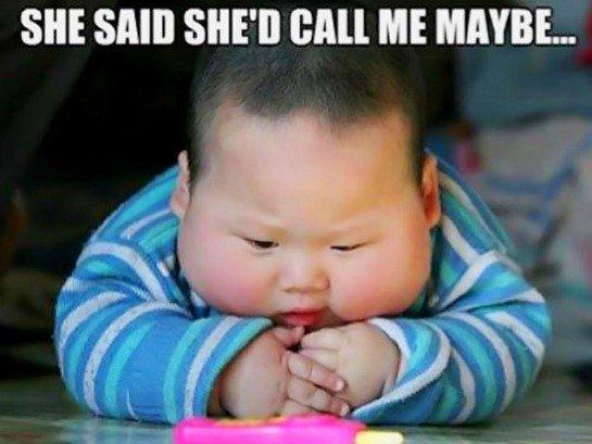 She Said She's Call Baby Meme