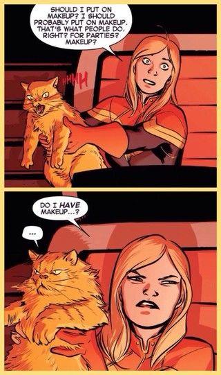 Should I Put On Makeup Ms. Marvel Meme