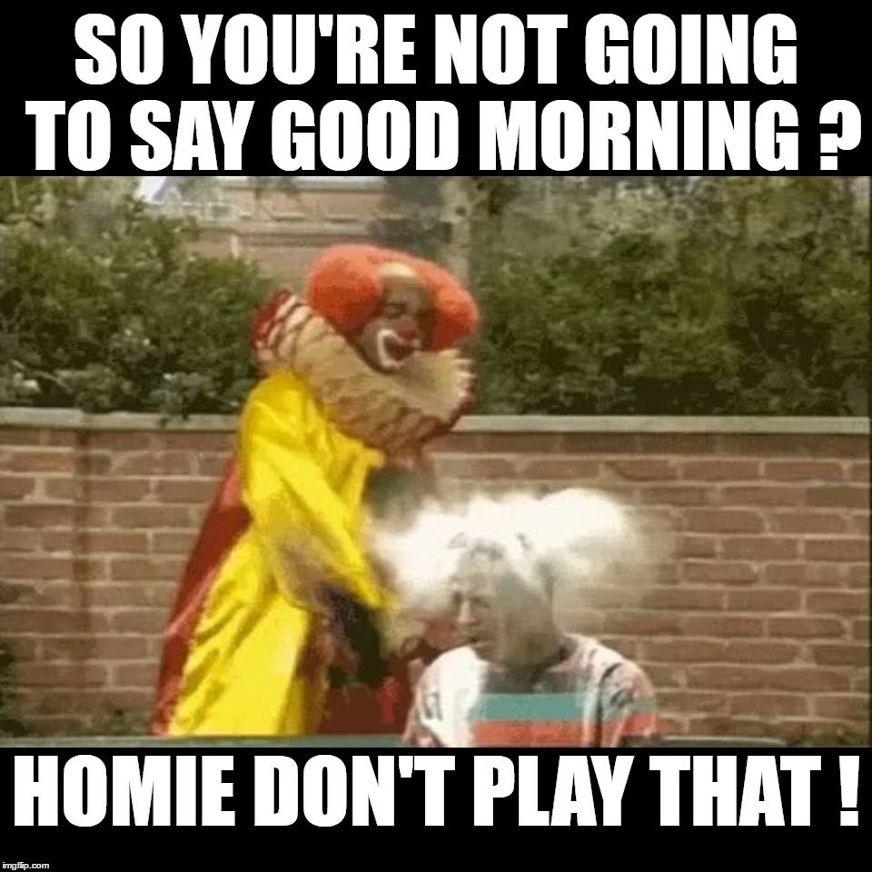 So You're Not Going To Say Good Morning Good Day Meme