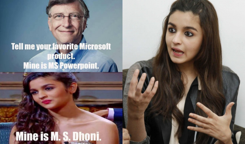 Tell Me Your Favorite Alia Bhatt Meme