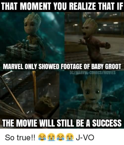That Moment You Realize Groot Meme