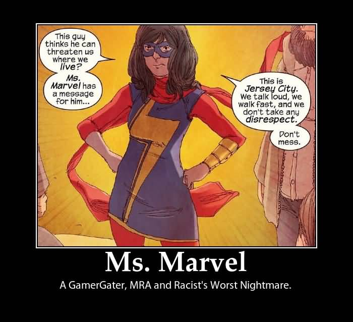 This Guy Thinks He Can Ms. Marvel Meme