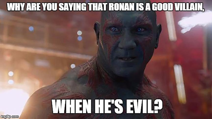 Why Are You Saying That Drax the Destroyer Meme