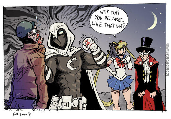 Why Can't You Be More Moon Knight Meme