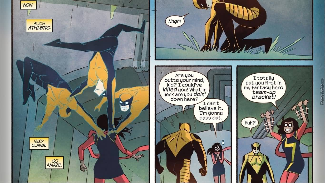 Wow Such Athletic Very Ms. Marvel Meme
