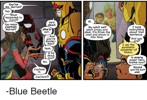 You're Ms Marvel Yup What Ms. Marvel Meme