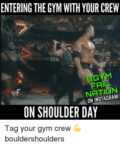 Entering The Gym With Shoulder Day Meme
