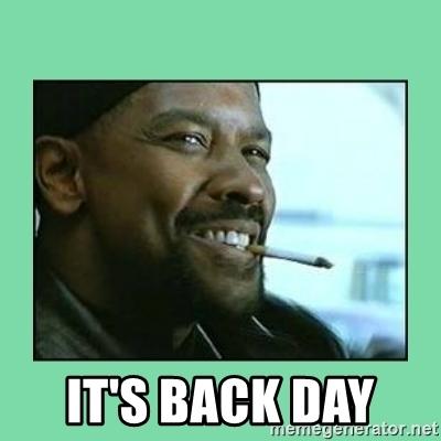 It's Back Day Back Day Meme