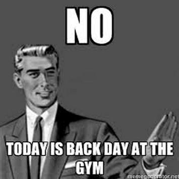 No Today Is Back Day At The Gym Back Day Meme
