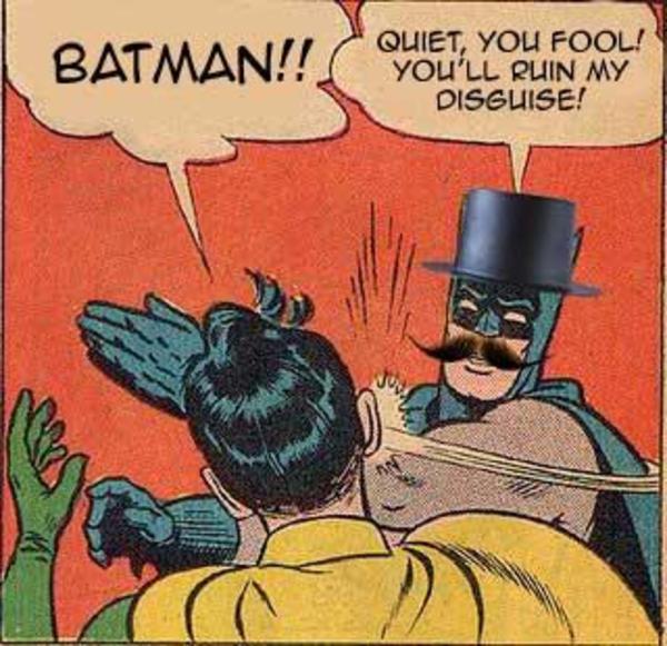 Batman Quiet You Fool Batman Slapping Robin Memes