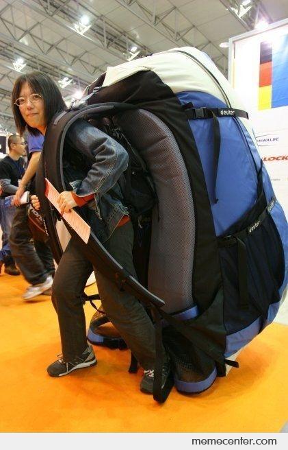 Big Back Pack Backpack Meme